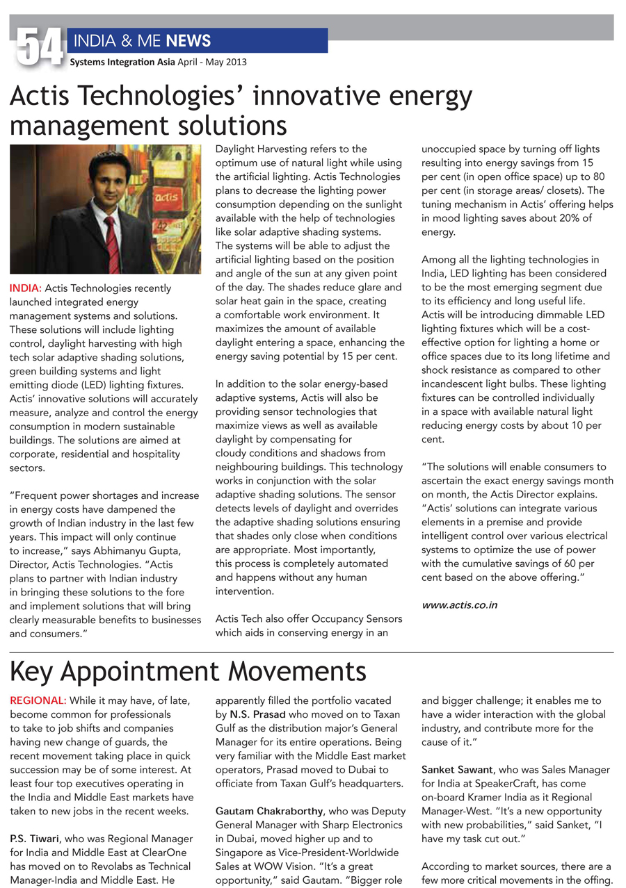 April2013_Energy Management Solutions_Systems Integration Asia