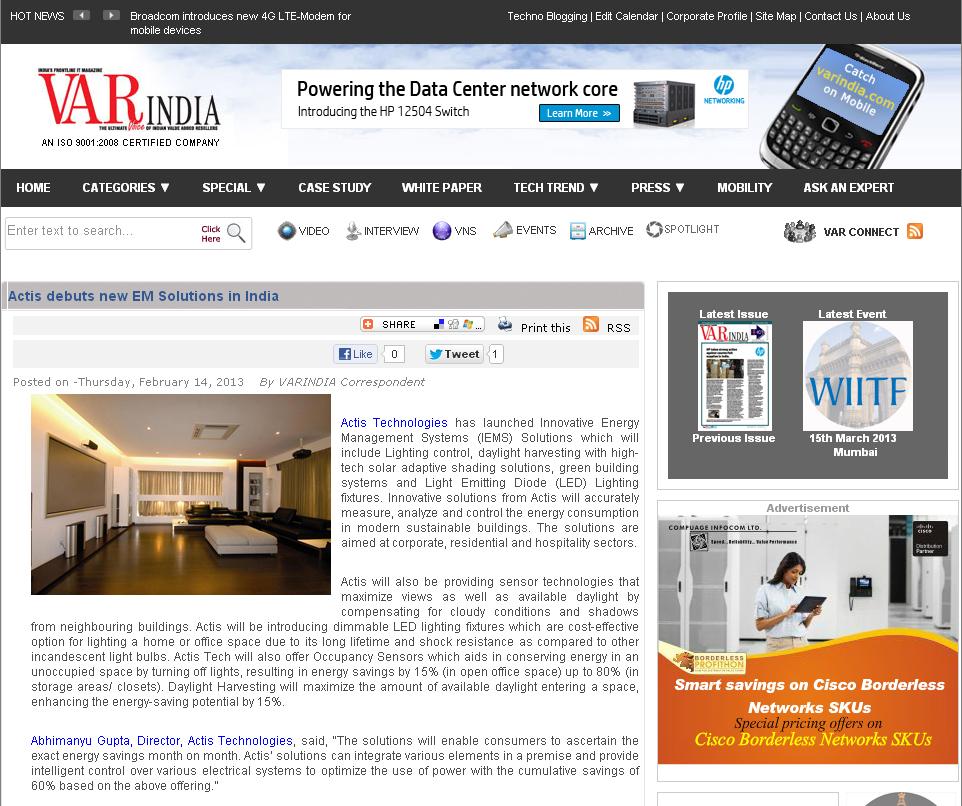 February2013_14_Energy Management Solutions_Varindia.com