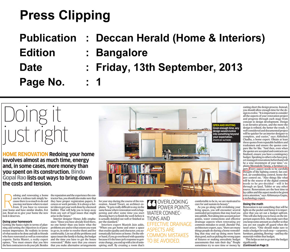 September2013_13_Quote-on-Home-Renovations_Deccan-Herald