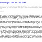 Actis Technologies ties up with Benq