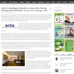 Actis Tech. launches integrated Energy Management Systems & Solutions