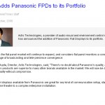 Actis Adds Panasonic FPDs to its Portfolio