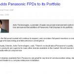 Actis Adds Panasonic FPDs to its Portfolio