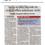 India to play big role in virtual office solutions
