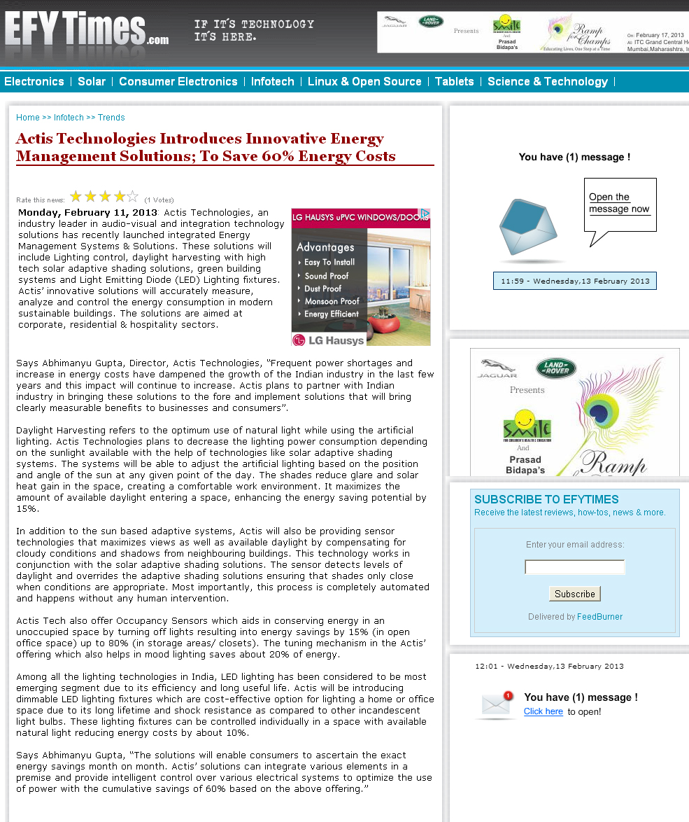 actistech-intro-iinovative-energy-management-solutions-energycost-feb112013-efytimes