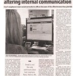 New technologies at workplace altering internal communication