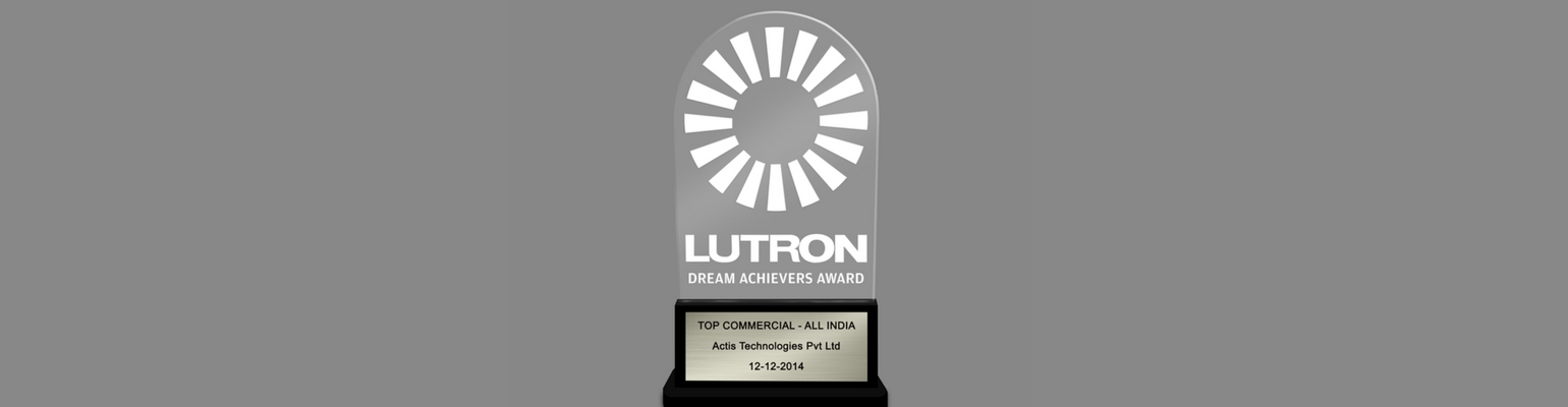 Lutron Award for Actis Lighting Management