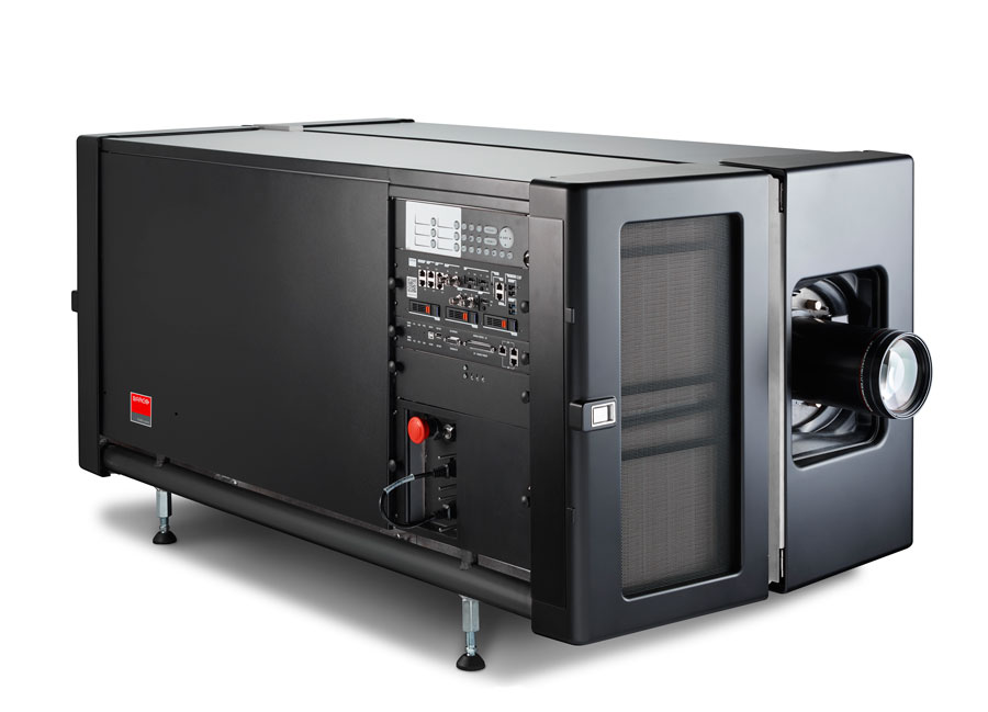 An example of a laser cinema projector is the 60,000 lumen Barco DP4K-60L (image source www.infocomm.org)