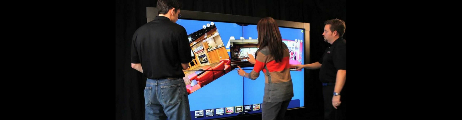 how multi-touch interactivity works on a video wall