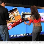 See how multi-touch interactivity works on a video wall