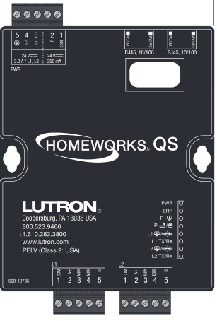 Integrated control of home lighting & shades with Lutron HomeWorks ...
