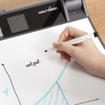 Presenting evolves with dry-erase surface and ceiling-mounted visualiser