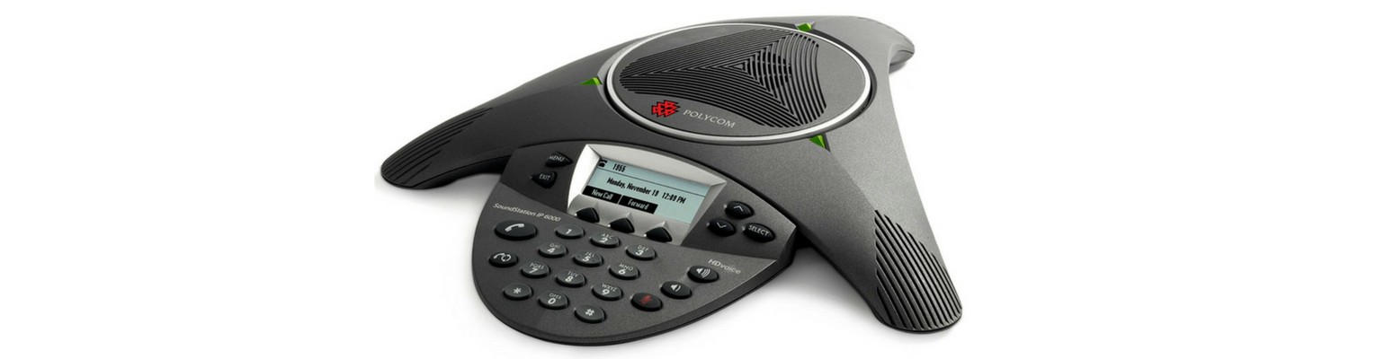 Polycom SoundStation in a conference room