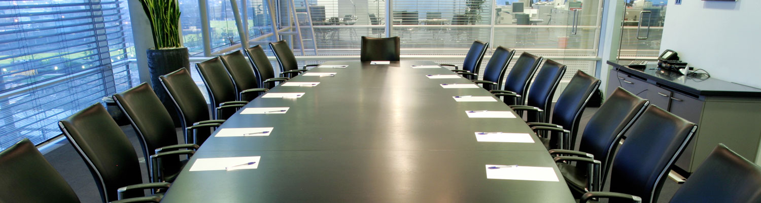 hi-tech modern boardroom