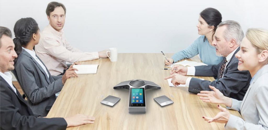 Audio technology in many meeting rooms