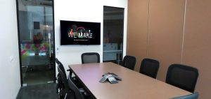 Multi-purpose Space — The divided 8-seater Meeting Room section